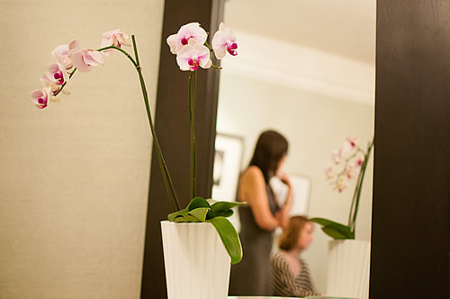 Spa Image with Orchid